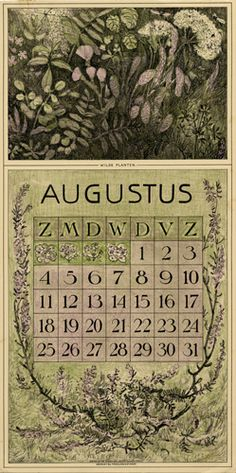 Theodoor van Hoytema, calendar 1912 August