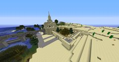 Minecraft World of Raar: -SPOTLIGHT- Sand Castle Minecraft building ideas and structures