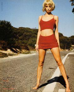 "Vogue Italia March 1990 ""Stone Age"" Model: Christy Turlington Photographer: Ellen von Unwerth Hair: Ward Makeup: Laurie Starret"
