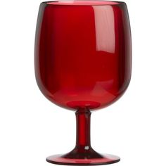 Had I know they were going to have red ones... I might not have picked up those blue ones last summer!   Stacking Red Acrylic Wine Glass in Christmas Entertaining | Crate and Barrel