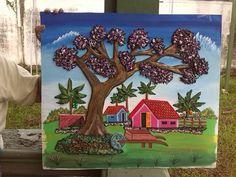 Cuadro pintado por Ileana Bonilla.  Costa Rica