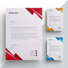 Modern company letterhead Template Company Letterhead Template, Free Letterhead Templates, Letterhead Paper, Certificate Design Template, Letterhead Design, Invoice Template, Stationery Design, Print Templates, Magazine Ideas