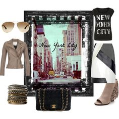 A fashion look from July 2014 featuring tee-shirt, leather biker jackets and leather skirts. Browse and shop related looks. Tee Shirts, New York, News, Polyvore, Leather, Shopping, Fashion, Moda, T Shirts