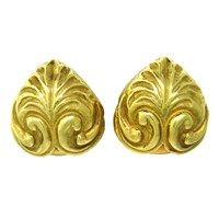 77b9ec75651 Elizabeth Gage Carved 18k Gold Earrings