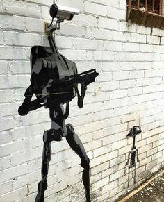 Droïde combat caméras