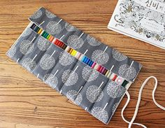 CreooGo Canvas Pencil Wrap, Pencils Roll Case Pouch Hold ...