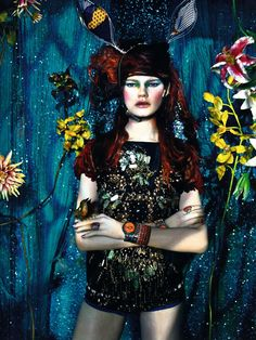 Kelly Mittendorf for Vogue Italia March 2012 photographed by Emma Summerton. Headpiece by Jeff Hahn. World Of Fashion, Love Fashion, Fashion Models, Spring Fashion, Vogue Editorial, Editorial Fashion, Editorial Design, Editorial Photography, Fascinators