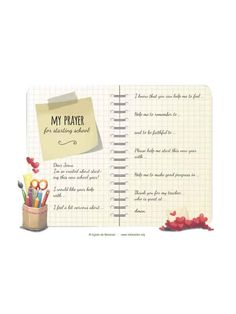 A little prayer for starting school, with text prompts to make it easier for kids to get started. Little Prayer, My Prayer, Information Age, Starting School, Bible Activities, Free Bible, Games For Kids, Get Started, Prompts