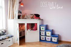 #speelhuis via dosfamily Geschilderde kast Ikea