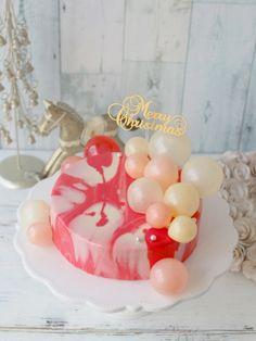 クリスマスミラーケーキとゼラチンバブル by vivian | cotta