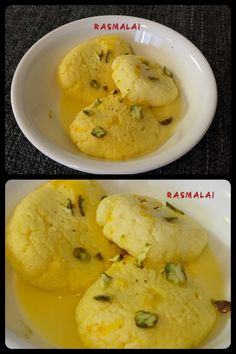 "Rasmalai, a yummy Bengali sweets. The name ras-malāi is the Hindi cognate which comes from two words in Bengali: rōś, meaning ""juice"", and mālāi, meaning ""cream""."