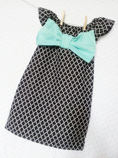 NEW Ice cream social dress. girls little black dress with  bow in any color , wedding, birthday. $38.50, via Etsy.
