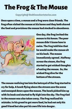 The Frog And The Mouse Aesop Fable