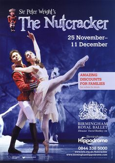2011 Nutcracker poster by Birmingham Royal Ballet, via Flickr    Peter Wright's Nutcracker is the Best. Nutcracker. Ever.
