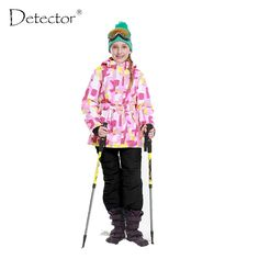 Girls Ski Set Winter Warm Ski Jacket Chilldren Outdoor Waterproof Windproof Snowboard Suit
