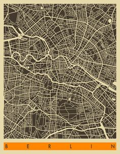 BERLIN Art Print by Jazzberry Blue
