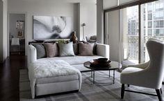 City condo living room.  Interior design by Michael Del Piero Good Design
