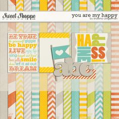 You Are My Happy mini kit freebie from Shawna Clingerman {part of the Sweet Shoppe Facebook Hop}