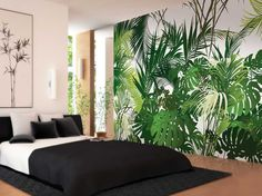 Jungle By lgd01, motif non-woven paper wallpaper, panoramic 6 strips Collection