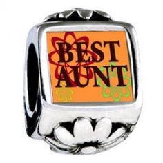 Best Aunt Photo Flower Charms  Fit pandora,trollbeads,chamilia,biagi,soufeel and any customized bracelet/necklaces. #Jewelry #Fashion #Silver# handcraft #DIY #Accessory