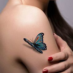3D butterfly tattoo 1 - 65 3D butterfly tattoos   <3