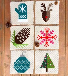 This is square #8 of 9 in my c2c Christmas afghan series. Make this modern Christmas stocking block as a merry throw pillow for the holiday season, or add it to your own winter graphgan. Click to download the free, printable crochet pattern.