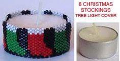 8 CHRISTMAS STOCKINGS TEA LIGHT CANDLE COVER