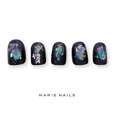 Everything necessary to preserve each of your finger nails between neaten and pedicure. Pink Black Nails, Navy Nails, Black Nail Art, Elegant Nail Designs, Best Nail Art Designs, Elegant Nails, Nail Trends 2018, Japanese Nail Art, Luxury Nails