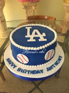 L.A dodgers birthday cake.