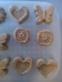 peanut butter fudege made froma candy mold