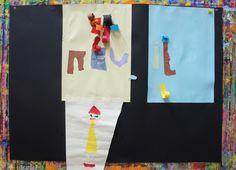 Nell a fait un collage minutieux, alternant création à plat et en relief.