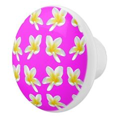 Frangipani Blush Ceramic Draw Knob. Ceramic Knob - home gifts ideas decor special unique custom individual customized individualized