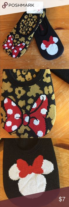 Ankle socks 2 pack So pairs of Minnie ankle socks nwt All Disney products are genuine. Disney Accessories Hosiery & Socks