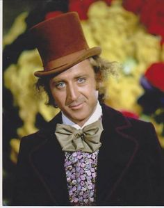 """Gene Wilder (as Willy Wonka-1971) was born in 1933 in Milwaukee, WI. His mom was often ill & a Dr. told 8-yr-old Gene to make her laugh. He did & thus began his call to acting: he studied at U/Iowa, in the UK, & """"method"""" acting. In '63, he met Mel Brooks who helped his career. Playing the lead in Willy Wonka & the Chocolate Factory made him a comedy icon. In '84, he married Gilda Radner who tragically died in '89 of ovarian cancer. Now living in CT w his 4th wife, Wilder has become an author. Willy Wonka, Young Frankenstein, Victor Frankenstein, Freddie Highmore, Fred Astaire, Time Lords, Photo Vintage, Star Wars, We Are The World"""