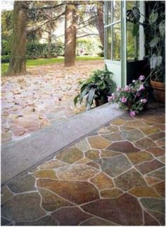 Natural stone floor Would love this......can't find it. Sandstone floor