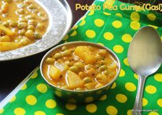 Drool-worthy potato pea curry in Udupi style. It pairs well with chapati as well as rice.