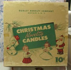 Vintage Gurley Novelty Christmas Candle Display Box