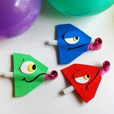 Art Pascal Party Blowers crafts