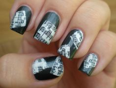 Laatikollinen lakkaa: Sunday Stamping: Piano sheets Music Nail Art, Music Nails, Piano Sheet, Nail Stamping, Fun Nails, Hair Makeup, Rings For Men, Amazing Nails, Sunday