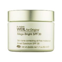What it is:A protective daytime SPF moisturizer that addresses facial discoloration.  What it is formulated to do: Dr. Weil's clinically proven skin brightener restores luminosity, corrects weak moisture barriers, and protects skin from future disc