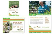 Lawn Care and Mowing Flyer and Ad Template Design by StockLayouts