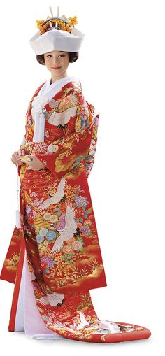 Shokaku Garden Uchikake from Takami Bridal with Cranes and Seasonal Flowers Japanese Wedding Kimono, Japanese Kimono, Seasonal Flowers, Yukata, Photo Editor, Bridal, Garden, Dresses, Fashion