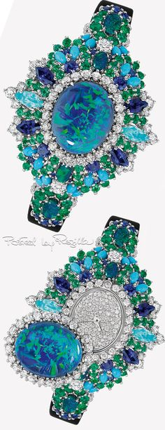 Regilla ⚜ Dior Bleu Cobalt, Needful Things, Green Fashion, Contemporary Jewellery, Green And Purple, Fashion Watches, Peacock, Swatch, Fine Jewelry