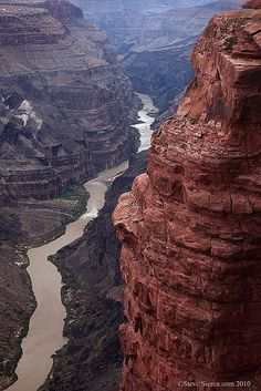 Moody Grand Canyon River View by Steve Sieren Photography, via Flickr; Grand Canyon and Colorado River #LakesandStreams