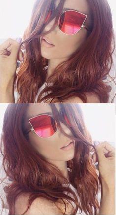 71cc0ec84b8a Colorful cat eye elegant fashion sunglasses Details Lens Height: 53mm Lens  Width: 55mm Material