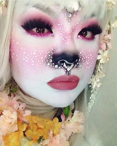 """sugarpillcosmetics: """" New girl crush! In love with this adorable little babe @minsooky. She's wearing #sugarpill Dollipop, Hotsy Totsy and Bulletproof eyeshadows! """""""