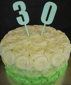Vanilla butter icing roses