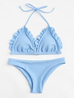 SheIn offers Frill Bikini Set & more to fit your fashionable needs. Source by rebekahovercast beachwear Trendy Swimwear, Cute Swimsuits, Cute Bikinis, Bikini Swimwear, Women Swimsuits, Bikinis Lindos, Frill Bikini, Halterneck Bikini, Vintage Bikini