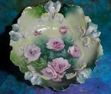 "R S Prussia Plate 92 / Mold 25 ""Carnations"" Bowl *******Holiday Special*********"