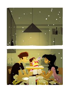 Family in winter _ Famiglia in inverno - Illust: #PascalCampion (http://pascalcampion.com/images/work/1601.jpg)